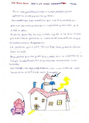 """Inés Ramos, ganadora del concurso """"Gus y la casavoladora"""""""