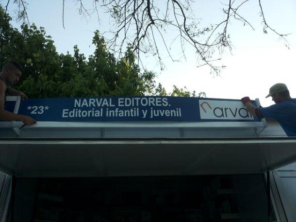 Caseta Narval editores. Feria Libro Fuenlabrada.