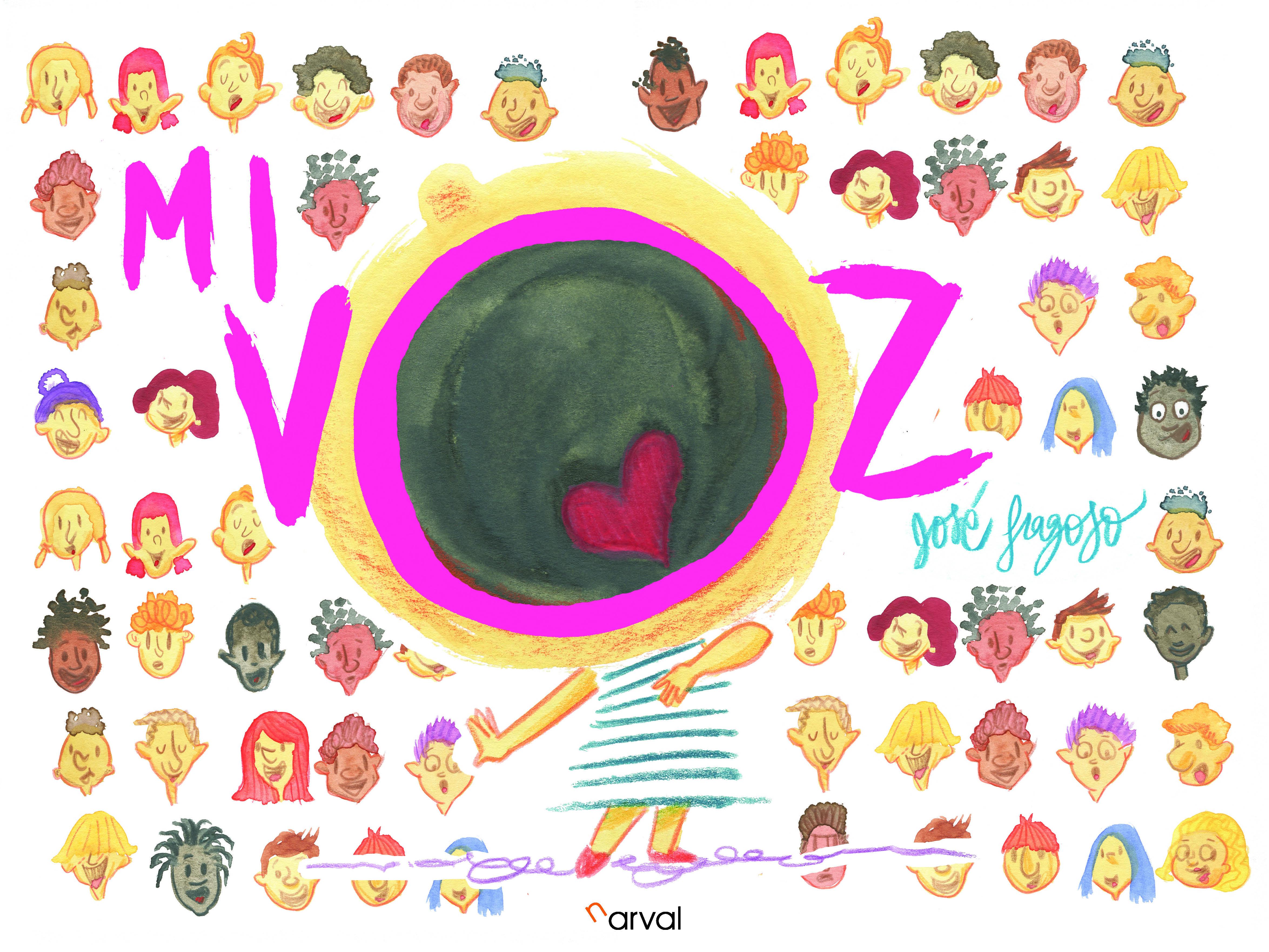 Album ilustrado Mi voz